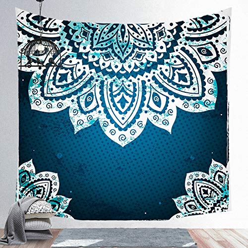 KHKJ Wall Hanging Mandala Tapestry Witchcraft Bedroom Living Room Boho Decor Polyester Hippie Chakra Tapestries A5 130cmx150cm