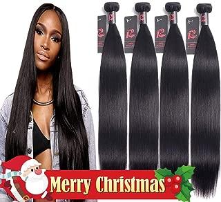 Malaysian Straight Hair 4 Bundles (24 26 28 30, Natural Color) 8A Remy Human Hair Weave Bundles Resaca Unprocessed Virgin Straight Malaysian Human Hair Bundles