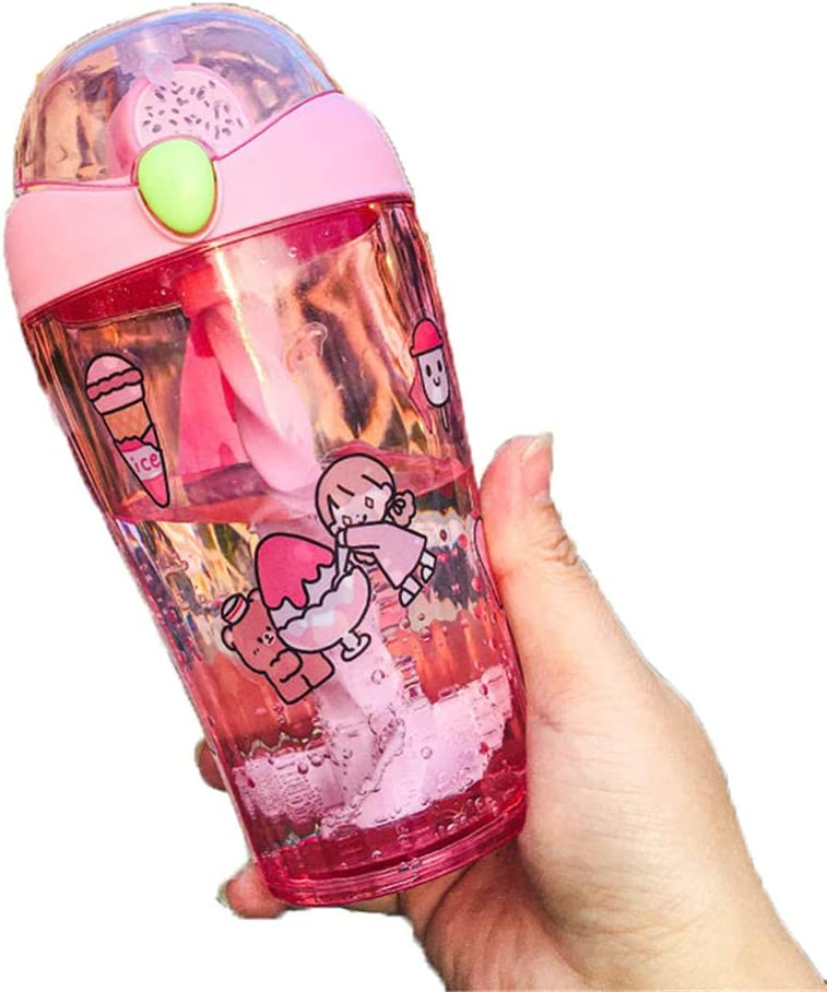 Kids Max 88% OFF Water Bottles with Straw Portabl Leak 450ml SALENEW very popular! Reusable Proof