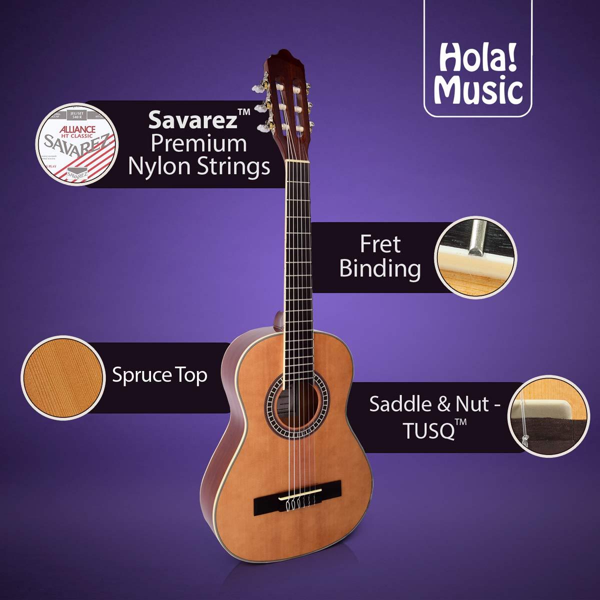 Guitarra clásica con cuerdas de nailon suave de Hola. Música ...