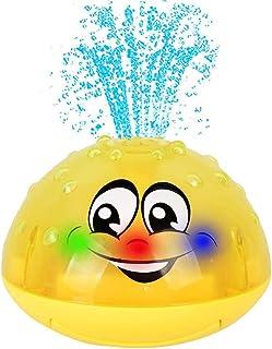 لعبة بخاخ الماء مريحة للحمام ، العاب باضاءة ليد تطفو على الماء، لحوض الاستحمام، حمام سباحة، لعبة حمام للطفل حديث المشي، ال...