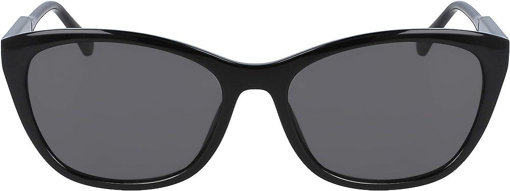 Calvin klein, occhiali da sole da donna, in acetato,colore delle lenti scure 42096