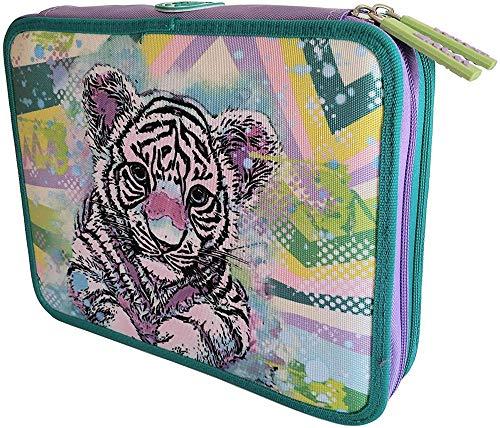 ASTUCCIO SCUOLA WWF A Living Planet MAXI 2 PIANI Girl Pink Tigre tigrotta ZIP COMPLETO 2020 + OMAGGIO PENNA GLITTERATA E PORTACHIAVE GIRABRILLA