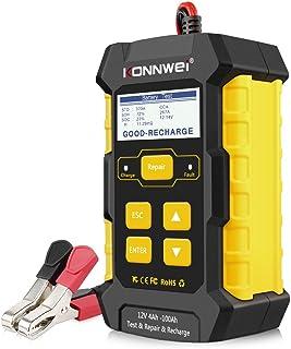 KONNWEI KW510 ładowarka do akumulatora samochodowego, 3 w 1, uniwersalny tester impulsowy, tester impulsowy, 12 V-5 A, aut...
