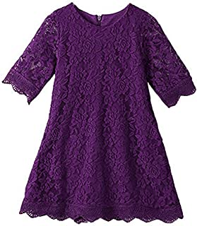 purple lace toddler dress