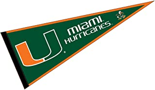 College Flags and Banners Co. Miami Hurricanes Pennant Full Size Felt