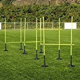 FORZA Adjustable Height Outdoor Hurdle Set 4ft & 5ft | Sports Exercise Equipment | Football Training Equipment | Speed & Agility Training Kit for Men, Women & Kids (4ft, With Rubber Base)