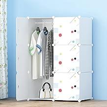 Armario de plástico armario de armario portátil DIY organizador de almacenamiento de ropa modular unidad de almacenamiento...
