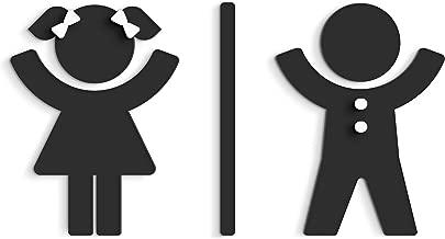 Moderne Damen wc Aufkleber Bad Schild f/ür t/üren f/ür Restroom und Badezimmer. 3DP Signs Schwarz Mann und Frau Toilettenschild Gepr/ägt Toilette Design t/ürschild WCD wc schilder selbstklebend