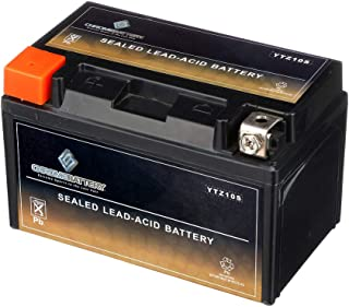 Chrome Battery YTZ10S-BS | Replaces YTX7A-BS High Performance - Maintenance Free - Sealed AGM Motorcycle Battery