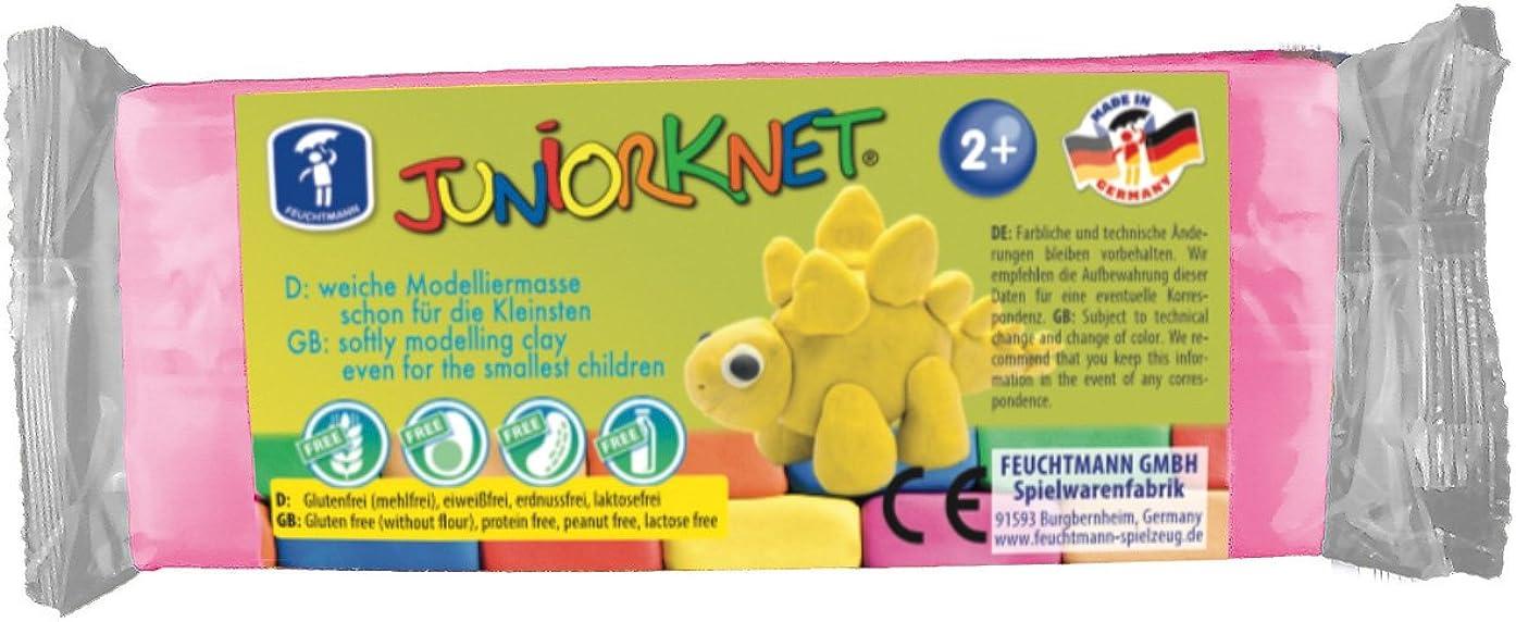 Feuchtmann 628 0013-5 Juniorknet Clay Dough 150 G - Pink, Multi Colour