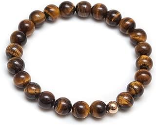 mens black onyx beaded bracelet