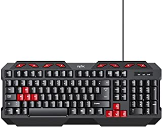 Computer Wired Keyboard, Inphic Full Size USB Keyboard with