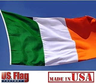 US Flag Factory 2x3 FT Ireland Irish Flag (Sewn Stripes) Outdoor SolarMax Nylon - Made in America - Premium Quality