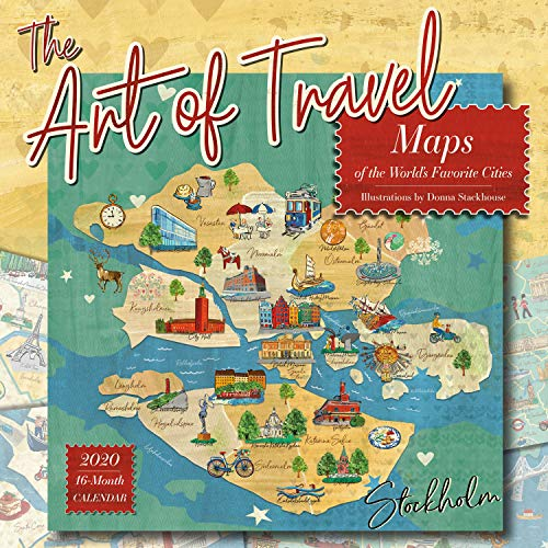 The Art of Travel 2020 Calendar: Maps of the World's Favorite Cities