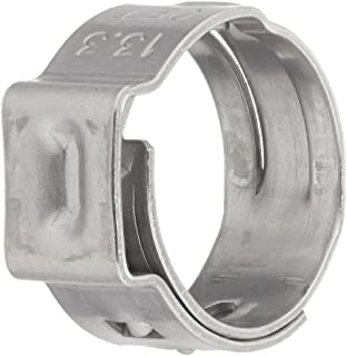 Closed 7 mm Band Width Clamp ID Range 23.9 mm Oetiker 16700033 Stepless Ear Clamp - 27.1 mm One Ear Open Pack of 10