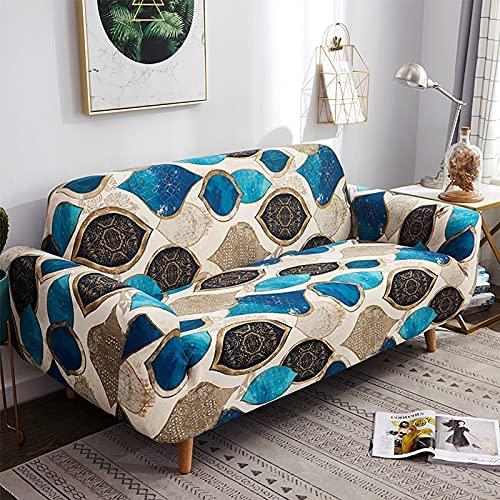ASCV Patrón de Color Funda de sofá elástica Funda de sofá elástica para Sala de Estar Funda de sofá en Forma de L Funda de sillón de Esquina A4 3 plazas