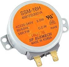 Reemplazo del motor giratorio del motor síncrono del horno de microondas, apto para microondas de la serie SSM ‑ 16HR 4681ED3001A, accesorios prácticos para electrodomésticos de cocina, CA 220 V ‑ 240