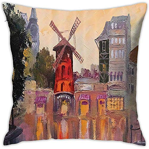 Babydo Kussenhoezen Schilderij Van Moulin Rouge Dagelijks Kussensloop Decoraties Kussensloop Kussenhoezen 45X45Cm Sofa Rits