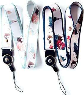 Crimmy Detachable Cell Phone Neck Lanyard, Universal, Double Sided Neck Strap Band Lanyards for Camera, Cell Phone, iPod, USB, Flash Drive (map)