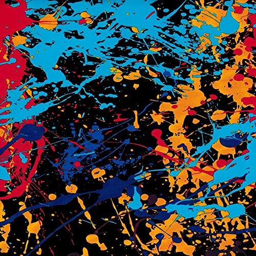 L.J.JZDY Wassertransferfilm, 0,5 m x 2 m, buntes Graffiti-Muster, Hydro-Tauchfilm, PVA, Wassertransferdruckfilm für Auto, Rad, Helm, Dekoration