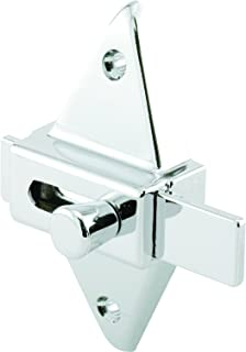 "Prime-Line PH 17039 Slide Latch (1pk) – Restroom Stall Latch – Diecast Construction, Chrome Plated – 2-3/4"" Hole Centers – Universal Design Can Be Used With Any Door Thickness – Easy to Install"