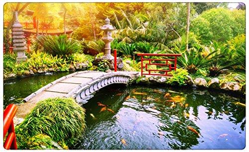Japan Garten Landschaft Teich Wandtattoo Wandsticker Wandaufkleber R1166 Größe 60 cm x 90 cm