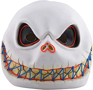 Binory Novelty Horror Mask Zombie Mask Latex Biochemical Monster Scary Infected Full Head Mask, Bloody Style Halloween Party Costume Decoration Prank Prop Creepy Cosplay Headgear Kids Adults Gift(N)