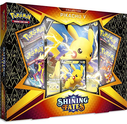 Pokemon Shining Fates Pikachu V Box Set - 4 Booster Packs
