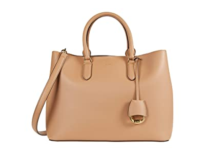 LAUREN Ralph Lauren Marcy Satchel (Nude/Nude) Handbags