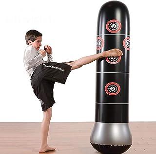 Saco de Boxeo, 1.6m Boxeo Inflable Punching Kick Training Tumbler Bag MMA Target Bag para niños Adolescentes Adultos Boxeo Inflable Bolsas de Arena