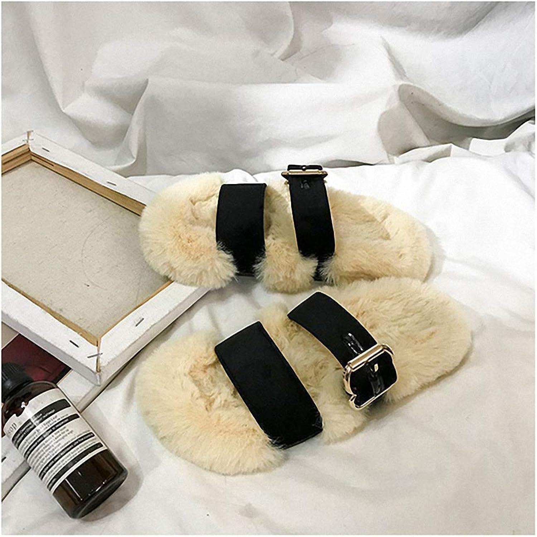 Pantoufle femme pantoufle en en en fourrure Chausson d 'hiver domestique pantoufle en velours  klassisk stil