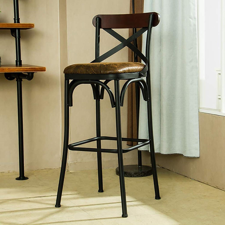 Retro Bar Chair Iron Art LOFT Bar Stools High Stool Creative Chair Home