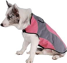 FOSINZ Abrigos para Perros con Velcro Ajustable Lluvia/Resistente al Agua Ultra-Light Transpirable a Prueba de Viento Chaquetas para Lluvia para Deportes al Aire Libre Senderismo Running