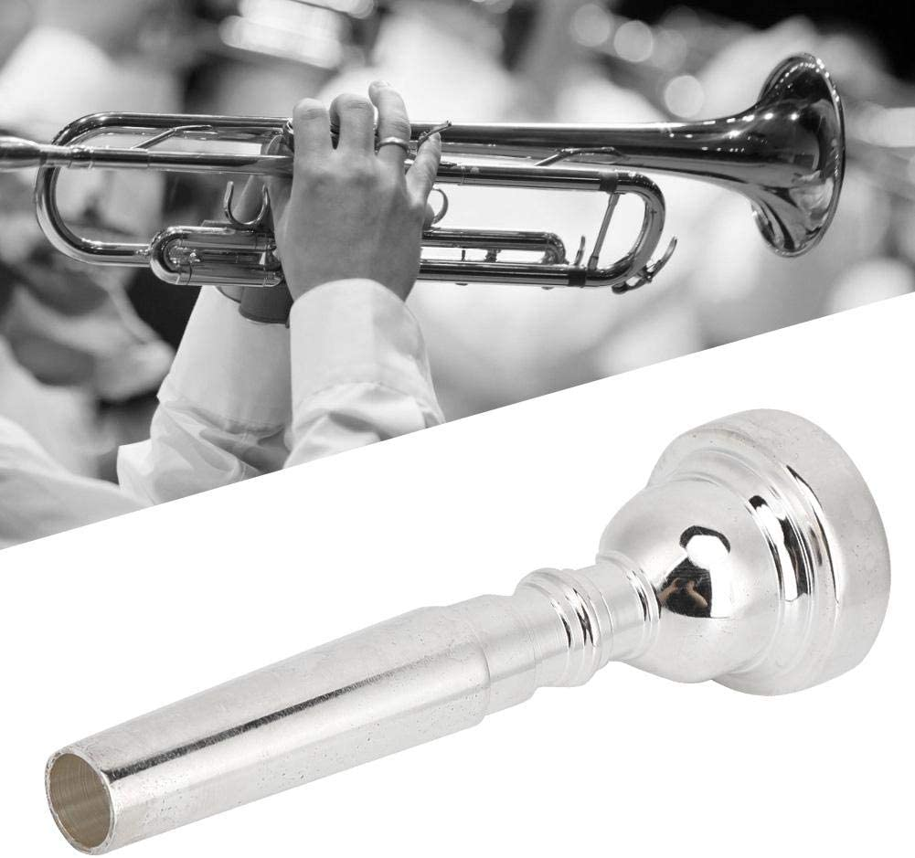 C Trumpet for high Quasi Sound Trumpet Accessories for Yamaha bach Conn King Trumpet Mouthpiece Silver Labor-Saving Metal Mouthpiece