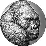 Power Coin Mountain Gorilla Expressions of Wildlife 2 Oz Moneda Plata 2000 Francos Cameroon 2021