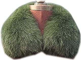 Gegefur Women's Fashion Short Raccoon Fox Fur Collar Scarf Wrap Shawl Warmer
