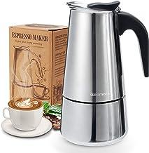 Godmorn spishäll, espressobryta, italiensk kaffebryggare moka-kruka, 300 ml/6 kopp (espressokopp = 50 ml), 430 rostfritt s...