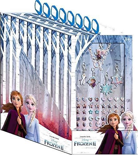 Disney Frozen- Pulsera con 5 Charms y Stickers 2 en cdu 8 u (Kids WD20780)