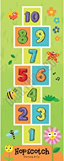 D Darlyng & Co Round Hopscotch Play Mat for Kids   High Contrast Graphics & Keep Your Little One Visually Stimulated   Can...