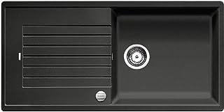 BLANCO ZIA XL 6 S – Rechteckige Granitspüle aus SILGRANIT für 60 cm breite Unterschränke für die Küche – Mit extra großem Becken – grau – 517558