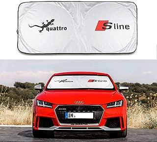 Vonluxs Sunshade Sline Windshield Visor Cover Sun Block Environmental Protection UV Protect Car Window Film Car Window Sun Shade for Audi A3 S3 RS3 A4 A4L RS4 RS5 A5 S4 S5 A6 A6L RS6 RS7 S6 A7 S7 A8