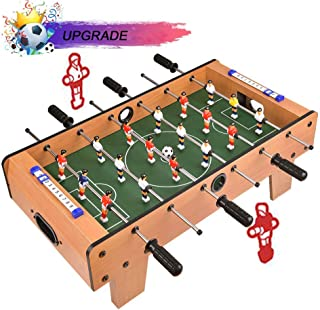 Portzon Foosball Table, Mini Tabletop Billiard Game Accessories Soccer Tabletops Competition Games Sports Games Family Night