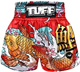 Tuff Boxing Sport Muay Thai Shorts Trunks Kick Martial Arts Training Gym Clothing, Tuf-ms637-red, Large