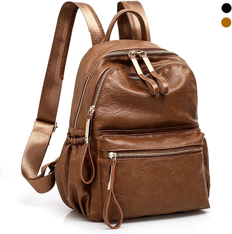 ALTINOVO PU-Lederrucksack für Frauen, Outdoor-Tagesrucksack Student Student Student Schultasche für Mädchen diebstahlsichere Wasserdichte große kapazität,braun B07P8183LJ  Bekannt für seine schöne Qualität 6cbd65