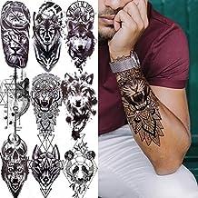 Tatuagem temporária Lobo Geométrico Cosplay