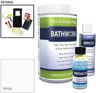 BATHWORKS 20-oz. DIY Bathtub and Tile Refinishing Kit- White