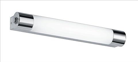 Trio Leuchten LED-badkamerwandlamp in chroom, inclusief 1 x 6W LED met schakelaar en stopcontact, breedte 44 cm 281570606