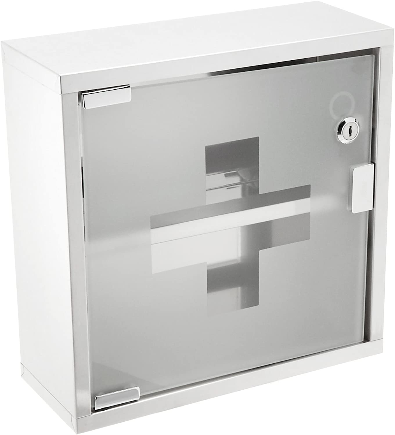 Winco SFAC-12 Stainless Steel First Aid Cabinet, 12-Inch by 12-Inch by 4.75-Inch
