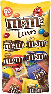 M&M'S Chocolate Candy Lovers Fun Size Variety Mix 33.08-Ounce 60-Piece Bag